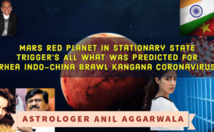 Mars Red Planet In Stationary State Trigger's All What Was Predicted For Rhea Indo-China Brawl Kangana Coronavirus Astrologer
