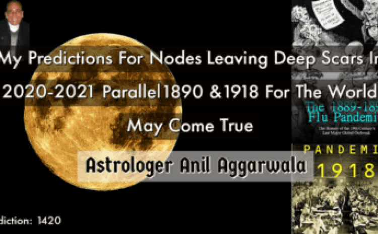 My Predictions For Nodes Leaving Deep Scars In 2020-2021 Parallel1890 &1918 For The World May Come True Astrologer Anil Aggarwala