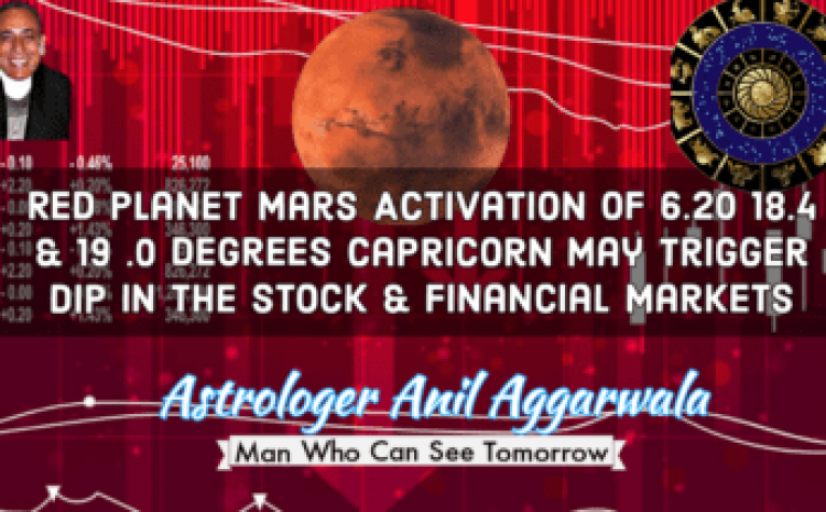 Red Planet Mars Activation Of 6.20 18.4 & 19 .0 Degrees Capricorn May Trigger Dip In the Stock & Financial Markets Astrologer Anil Aggarwala