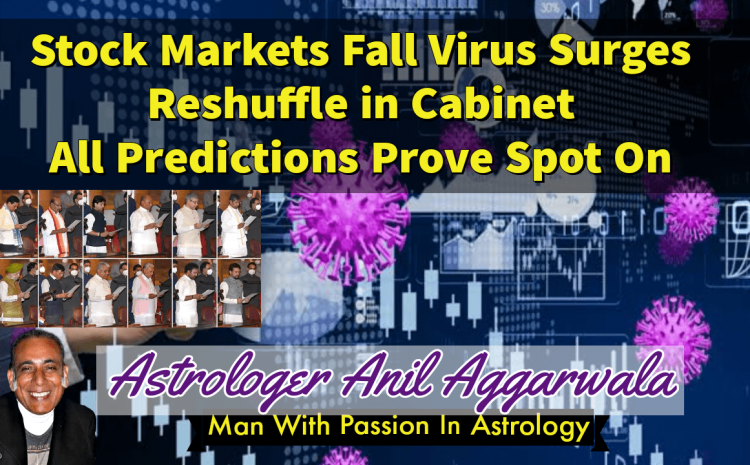 Stock Markets Fall Virus Surges Reshuffle In Cabinet All Prediction Prove Spot On Astrologer Anil Aggarwala
